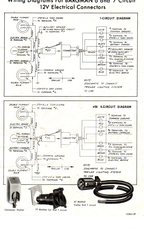 on bargman trailer plug wiring diagram